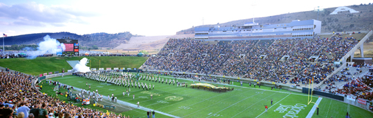 Sonny Lubick Field at Hughes Stadium - Photo by Tim O'Hara
