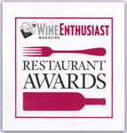 Wine Enthusiast Award of Distinction